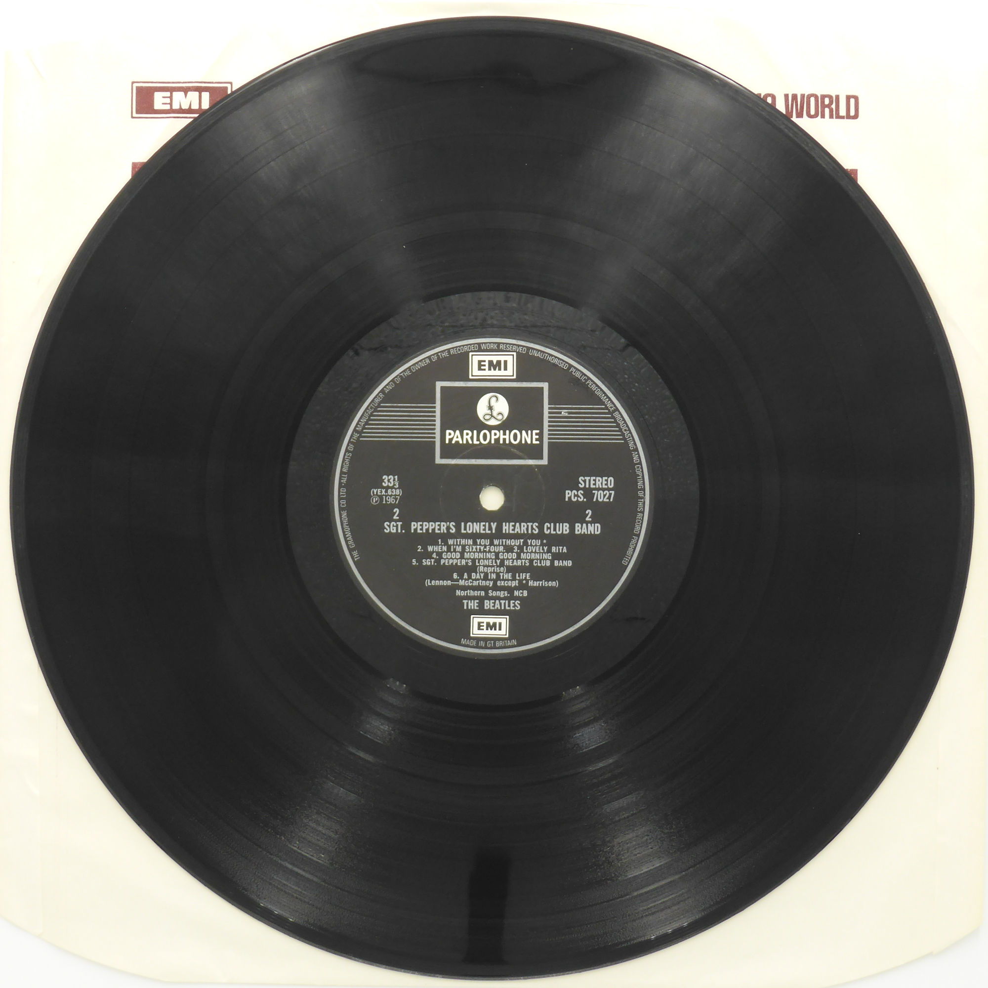 The Beatles Sgt Peppers Insert Pcs 7027 1967