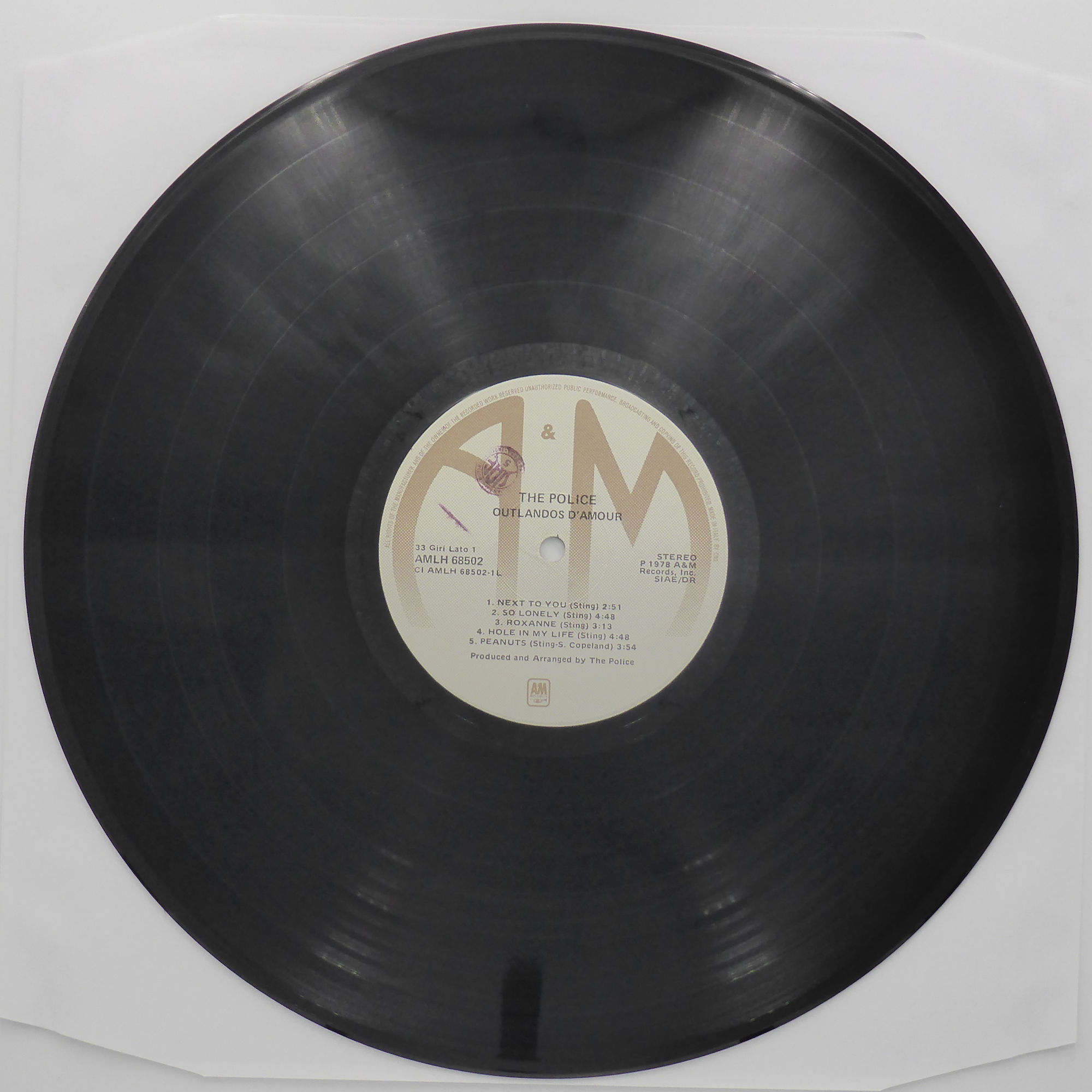 The Police Outlandos D Amour Amlh 68502 1978 Vinyl